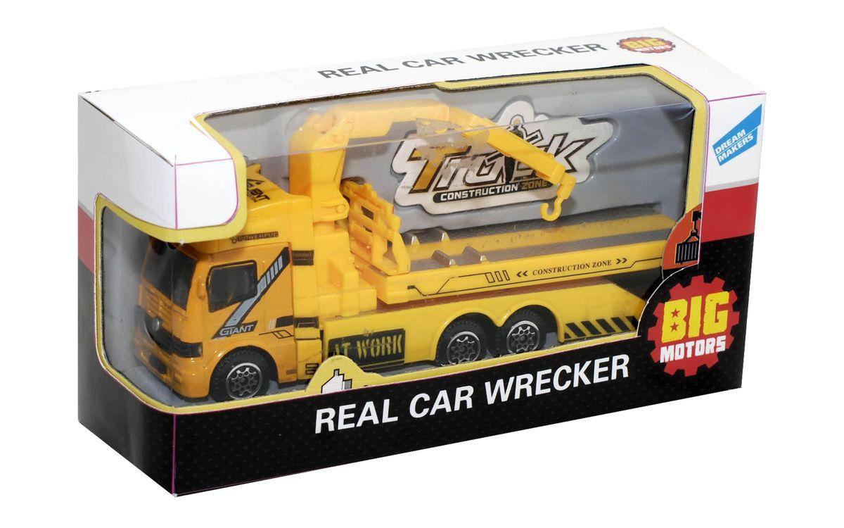 Big Motors Машинка Эвакуатор8358-1Функционал игрушки: двигается платформа и кран-манипулятор. Размеры в упаковке: 8x15x5см.