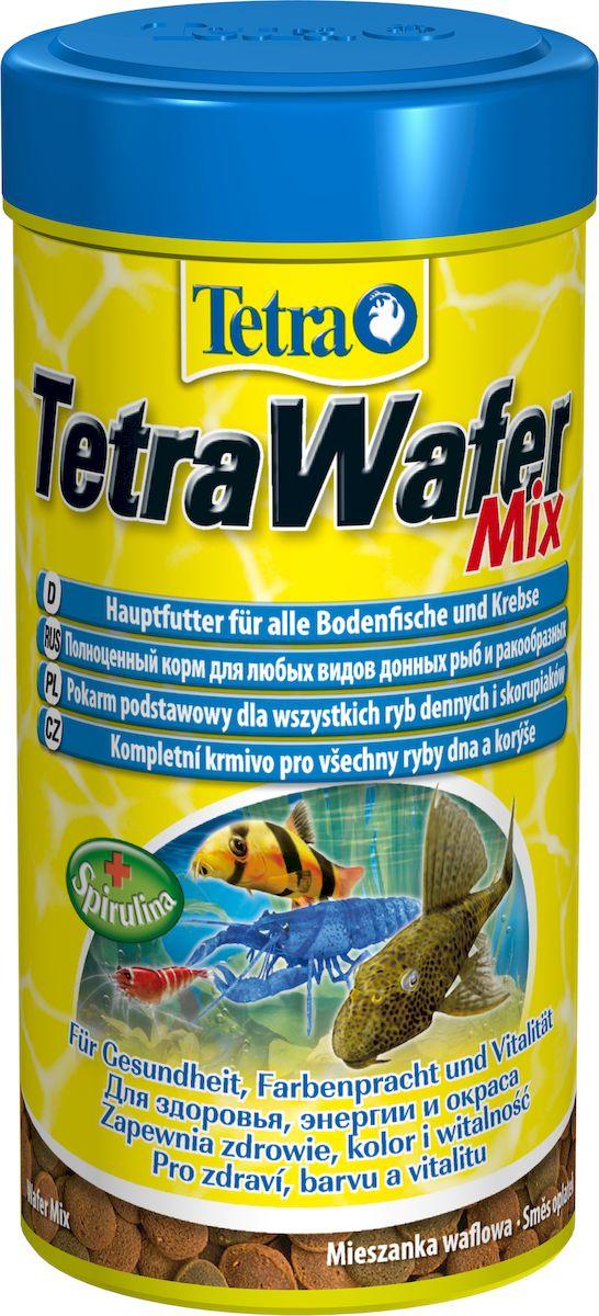 Корм сухой TetraWafer Mix для всех донных рыб и ракообразных, в виде пластинок, 250 мл198890_250граммКорм TetraWafer Mix - это сбалансированный, богатый питательными веществами корм высшего качества. Превосходное качество корма обеспечивает оптимальное питание ваших рыб. Сочетание двух разных пластинок обеспечивает разнообразие и оптимальное питание. Благодаря твердой консистенции пластинки не загрязняют воду. Рекомендации по кормлению: кормить несколько раз в день маленькими порциями. Характеристики: Состав: рыба и побочные рыбные продукты, зерновые культуры, экстракты растительного белка, растительные продукты, дрожжи, моллюски и раки, масла и жиры, водоросли (спирулина максима 1,5%), минеральные вещества. Пищевая ценность: сырой белок - 45%, сырые масла и жиры - 6%, сырая клетчатка - 2%, влага - 9%. Добавки: витамины, провитамины и химические вещества с аналогичным воздействием, витамин А 28460 МЕ/кг, витамин Д3 1770 МЕ/кг. Комбинации элементов: Е5 Марганец 64 мг/кг, Е6 Цинк 38 мг/кг, Е1 Железо 25 мг/кг, Е3 Кобальт 0,5 мг/кг....