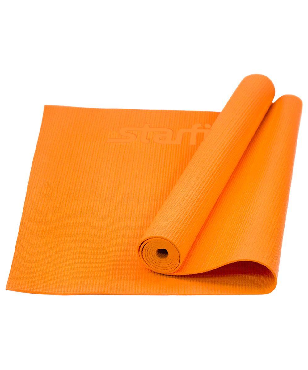 Коврик для йоги Starfit FM-101, цвет: оранжевый, 173 х 61 х 0,4 смУТ-00008832Коврик для йоги Star Fit FM-101 - это незаменимый аксессуар для любого спортсмена как во время тренировки, так и во время пре-стретчинга (растяжки до тренировки) и стретчинга (растяжки после тренировки). Выполнен из высококачественного ПВХ. Коврик используется в фитнесе, йоге, функциональном тренинге. Его используют спортсмены различных видов спорта в своем тренировочном процессе. Предпочтительно использовать без обуви. Если в обуви, то с мягкой подошвой, чтобы избежать разрыва поверхности коврика.