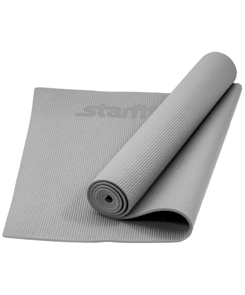 """Коврик для йоги """"Starfit"""", цвет: серый, 173 x 61 x 0,5 см УТ-00008833"""