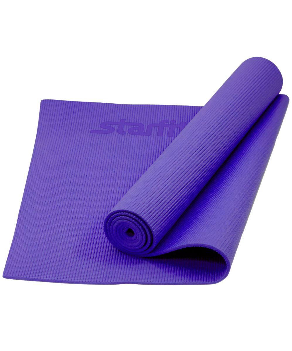 Коврик для йоги Star Fit, цвет: фиолетовый, 173 x 61 x 0,6 смУТ-00008836Коврик для йоги FM-101 - это незаменимый аксессуар для любого спортсмена как во время тренировки, так и во время пре-стретчинга (растяжки до тренировки) и стретчинга (растяжки) после тренировки. Коврик PVC Star Fit используются в фитнесе, йоге, функциональном тренинге. Его используют спортсмены различных видов спорта в своем тренировочном процессе. Люди, занимающиеся медитацией, также делают выбор в пользу Star Fit. Предпочтительно использовать без обуви. Если в обуви, то с мягкой подошвой, чтобы избежать разрыва поверхности коврика. Характеристики: Тип: коврик для йоги и фитнеса Материал: ПВХ Длина, см: 173 Ширина, см: 61 Толщина, см: 0,6 Цвет: фиолетовый Количество в упаковке, шт: 1 Производитель: КНР