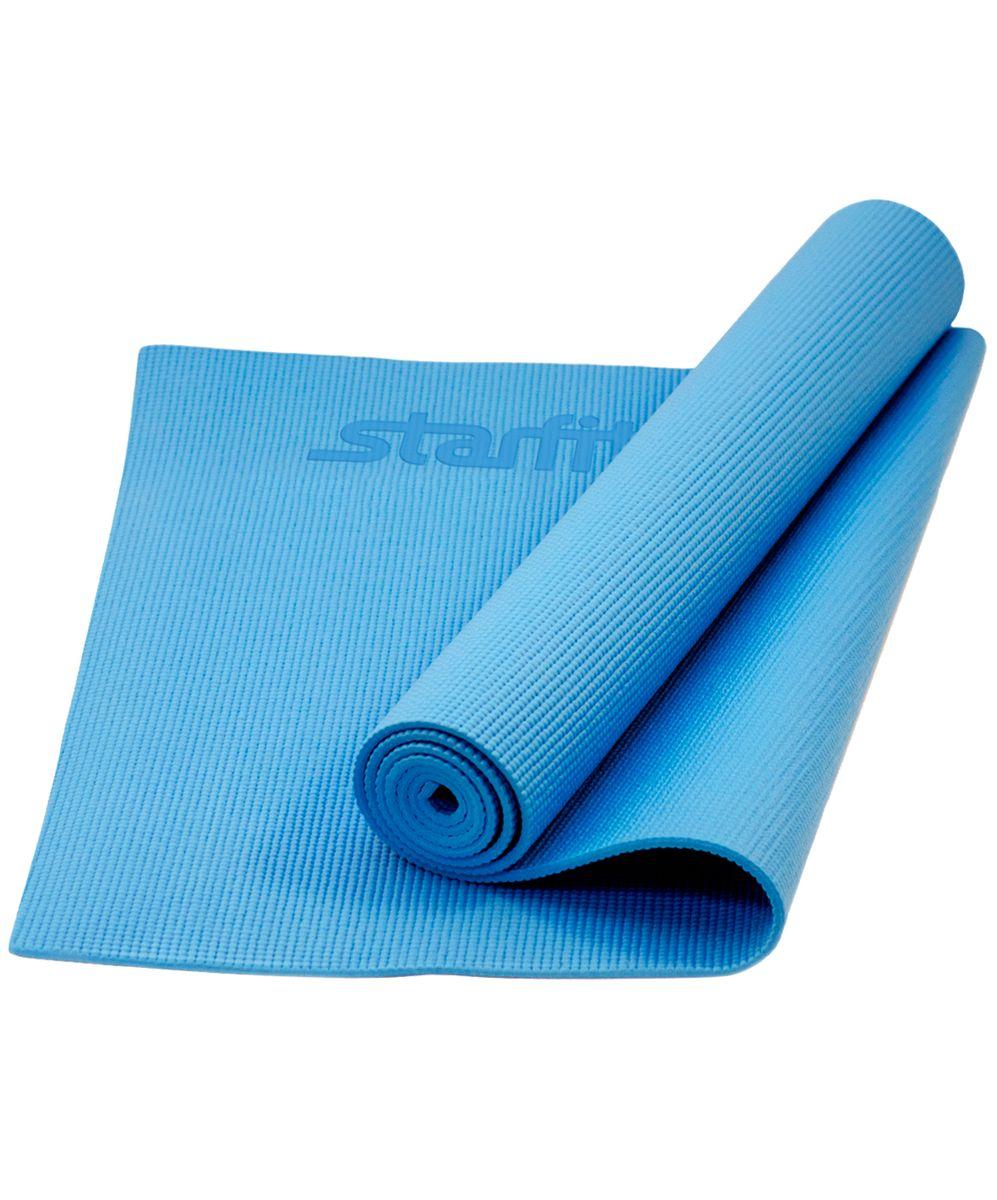Коврик для йоги Star Fit, цвет: синий, 173 x 61 x 1 смУТ-00008839Коврик для йоги FM-101 - это незаменимый аксессуар для любого спортсмена как во время тренировки, так и во время пре-стретчинга (растяжки до тренировки) и стретчинга (растяжки) после тренировки. Коврик PVC Star Fit используются в фитнесе, йоге, функциональном тренинге. Его используют спортсмены различных видов спорта в своем тренировочном процессе. Люди, занимающиеся медитацией, также делают выбор в пользу Star Fit. Предпочтительно использовать без обуви. Если в обуви, то с мягкой подошвой, чтобы избежать разрыва поверхности коврика. Характеристики: Тип: коврик для йоги и фитнеса Материал: ПВХ Длина, см: 173 Ширина, см: 61 Толщина, см: 1 Цвет: синий Количество в упаковке, шт: 1 Производитель: КНР