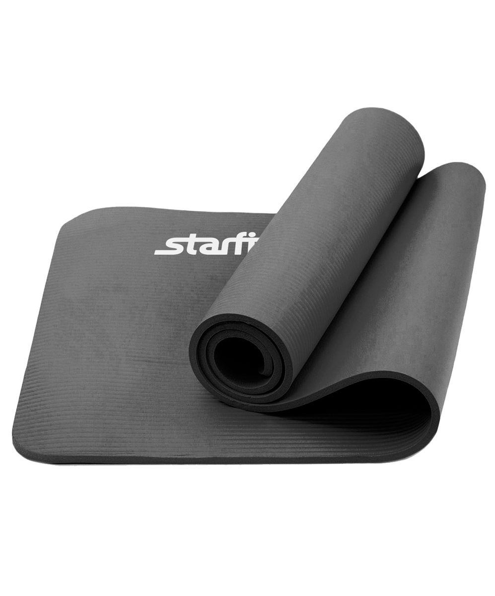 Коврик для йоги Star Fit, цвет: серый, 183 x 58 x 1 смУТ-00008849Коврик для йоги FM-301 - это плотный коврик с одновременно мягким материалом NBR, который привлекает клиентов в сторону Star Fit. Коврик NBR Star Fit незаменимый аксессуар для любого спортсмена как во время тренировки, так и во время пре-стретчинга (растяжки до тренировки) и стретчинга (растяжки) после тренировки. Коврики NBR Star Fit используются в фитнесе, йоге, функциональном тренинге. Их используют спортсмены различных видов спорта в своем тренировочном процессе. Предпочтительно использовать без обуви. Если в обуви, то с мягкой подошвой, чтобы избежать разрыва поверхности коврика. Люди, занимающиеся медитацией, также делают выбор в пользу Star Fit. Характеристики: Тип: коврик для йоги и фитнеса Материал: NBR (Бутадиен-нитрильный каучук) Длина, см: 183 Ширина, см: 58 Толщина, см: 1 Цвет: серый Количество в упаковке, шт: 1 Производитель: КНР