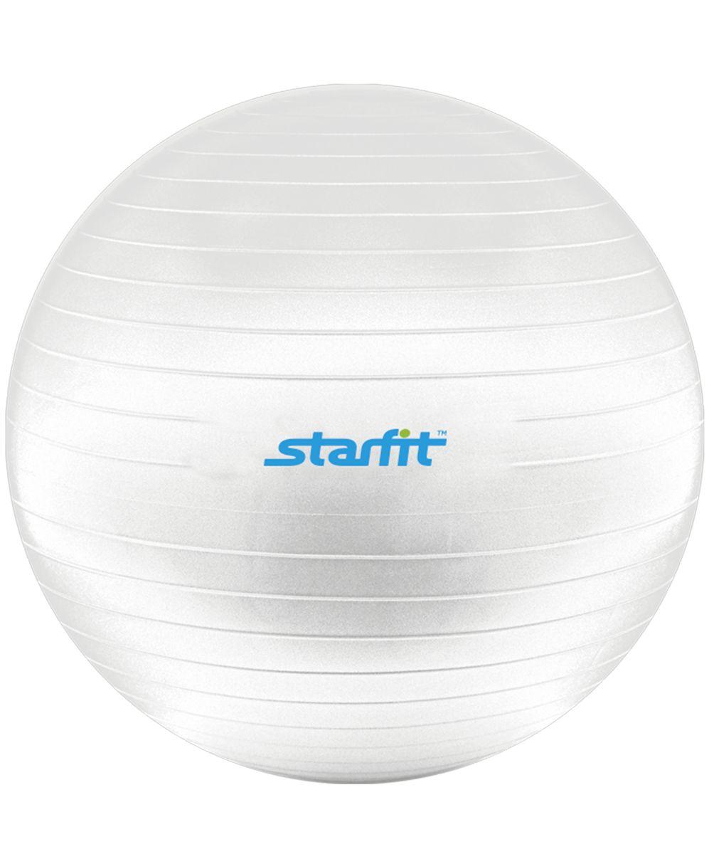 Мяч гимнастический Starfit, антивзрыв, с насосом, цвет: белый, диаметр 55 смУТ-00008861С помощью гимнастического мяча Star Fit можно тренировать все мышцы тела, правильно выстроив тренировочный процесс и используя его как основной или второстепенный снаряд (создавая за счет него лишь синергизм действия, а не основу упражнения) для упражнения. Изделие выполнено из прочного ПВХ. Гимнастический мяч - это один из самых популярных аксессуаров в фитнесе. Его используют и женщины, и мужчины в функциональном тренинге, бодибилдинге, групповых программах, стретчинге (растяжке). Насос входит в комплект.