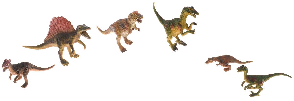 Wenno Набор фигурок Динозавры 6 штWCD06001Набор фигурок Wenno Динозавры познакомит вашего ребенка с окружающим миром. В набор входят шесть фигурок динозавров, которые имеют высокую степень сходства с настоящими животными и высокую детализацию, что позволяет использовать фигурки не только как игровые, но и как коллекционные. Фигурки изготовлены из качественного материала, не токсичны и не вызывают аллергию. В набор входят карточки. Вам необходимо скачать сканер QR кодов, выбрать язык (по умолчанию - английский). Просканируйте QR код на каждой карточке, приложение покажет информацию о разных животных.