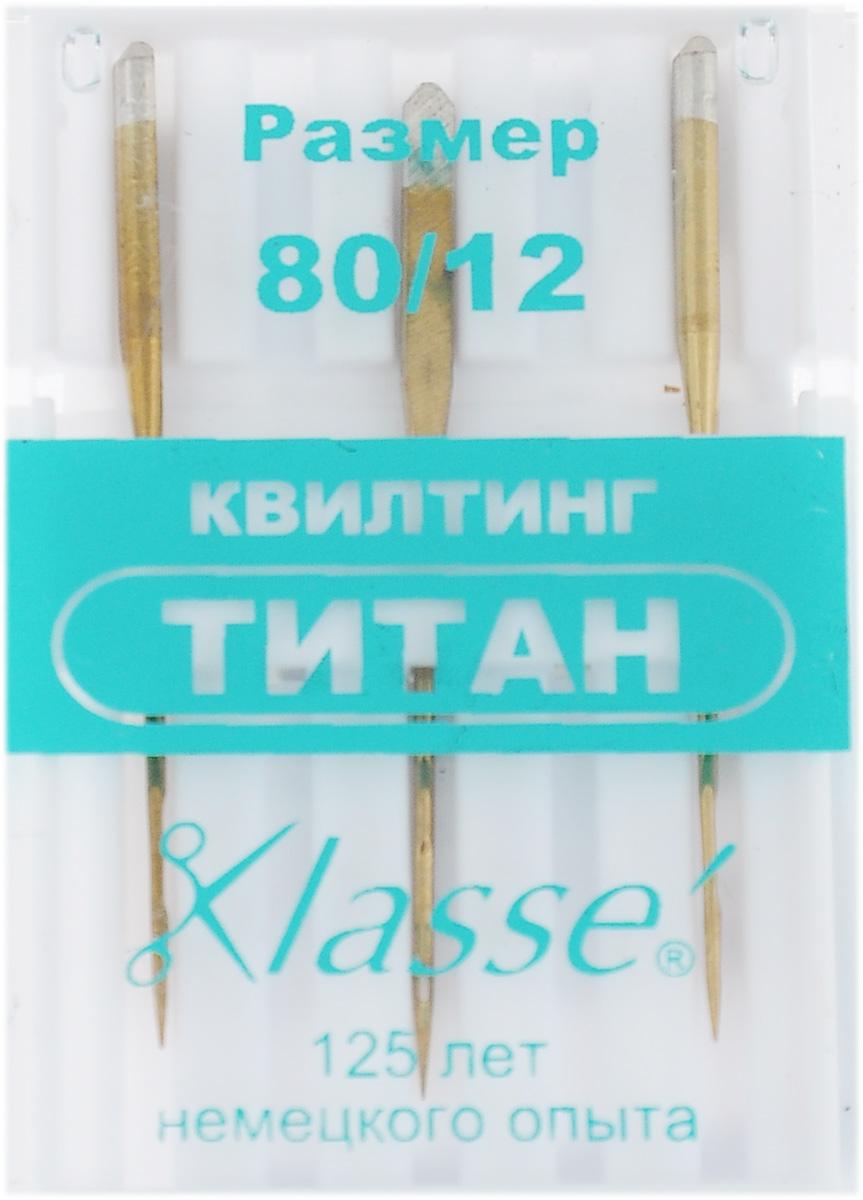 Иглы для бытовых швейных машин Hemline, для квилтинга, титановые, №80, 3 штA6148/80TИглы для квилтинга Hemline подходят для прокалывания слоев хлопчатобумажных тканей с ватной прокладкой. Длинный и острый кончик игл проходит сквозь слои и оставляет ровные стежки. Иглы выполнены из высококачественного титана. В комплекте футляр для переноски и хранения. Размер: №80/12. Комплектация: 3 шт.