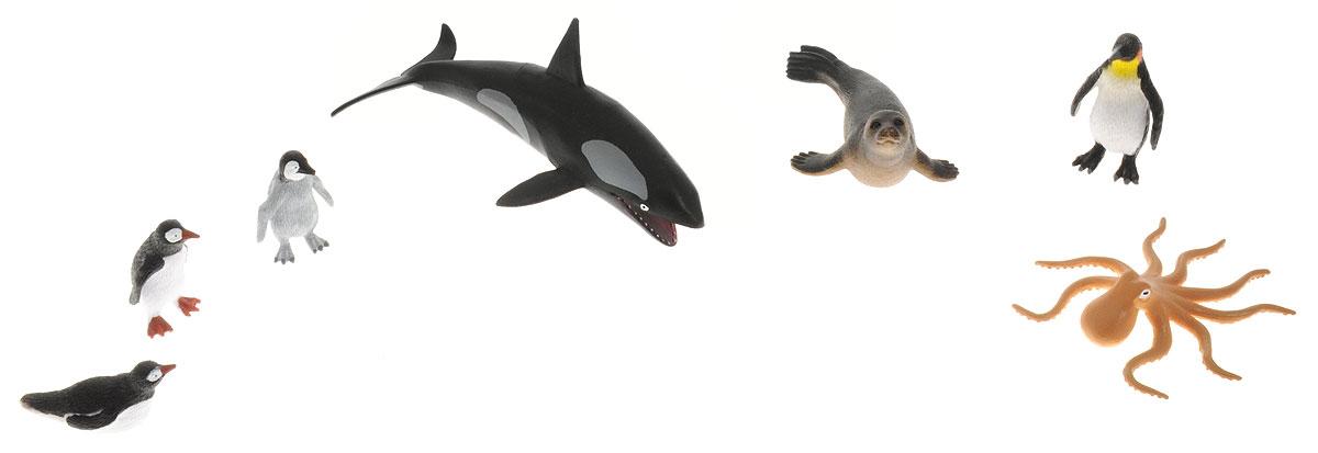 Wenno Набор фигурок Животные Южного полюса 7 штWSP06001Набор фигурок Wenno Животные Южного полюса познакомит вашего ребенка с окружающим миром. В набор входят семь фигурок - осьминог, пингвины и другие, которые имеют высокую степень сходства с настоящими животными. Фигурки выполнены с максимальной детализацией, чтобы дать ребенку представление о том, как выглядят животные в природе. Совместные игры с фигурками Wenno - это познавательное времяпрепровождение для всей семьи. Фигурки изготовлены из качественного материала, не токсичны и не вызывают аллергию. В набор входят карточки. Вам необходимо скачать сканер QR кодов, выбрать язык (по умолчанию - английский). Просканируйте QR код на каждой карточке, приложение покажет информацию о разных животных.