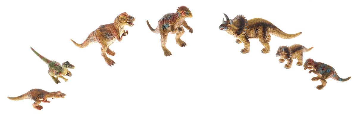 Wenno Набор фигурок Динозавры 7 штWED06002Набор фигурок Wenno Динозавры познакомит вашего ребенка с окружающим миром. В набор входят семь фигурок динозавров, которые имеют высокую степень сходства с настоящими животными и высокую детализацию, что позволяет использовать фигурки не только как игровые, но и как коллекционные. Фигурки изготовлены из качественного материала, не токсичны и не вызывают аллергию. В набор входят карточки. Вам необходимо скачать сканер QR кодов, выбрать язык (по умолчанию - английский). Просканируйте QR код на каждой карточке, приложение покажет информацию о разных животных.