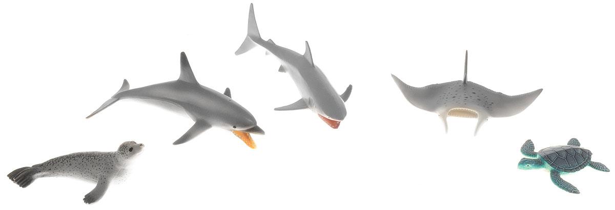 Wenno Набор фигурок Животные океана 5 штWPN06001Набор фигурок Wenno Животные океана познакомит вашего ребенка с окружающим миром. В набор входят пять фигурок - дельфин, акула, черепаха и другие, которые имеют высокую степень сходства с настоящими животными. Фигурки выполнены с максимальной детализацией, чтобы дать ребенку представление о том, как выглядят животные в природе. Набор фигурок Wenno Животные океана - отличная возможность посетить зоопарк, не выходя из дома. Фигурки изготовлены из качественного материала, не токсичны и не вызывают аллергию. В набор входят карточки. Вам необходимо скачать сканер QR кодов, выбрать язык (по умолчанию - английский). Просканируйте QR код на каждой карточке, приложение покажет информацию о разных животных.