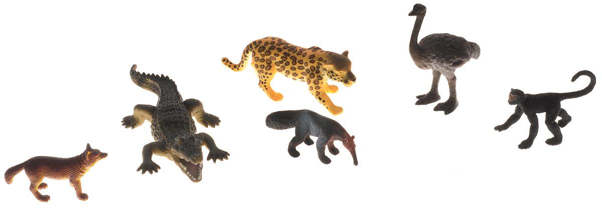 Wenno Набор фигурок Животные Южной Америки 6 штWSA06001Набор фигурок Wenno Животные Южной Америки познакомит вашего ребенка с окружающим миром. В набор входят шесть фигурок - крокодил, страус и другие, которые имеют высокую степень сходства с настоящими животными. Фигурки выполнены с максимальной детализацией, чтобы дать ребенку представление о том, как выглядят животные в природе. Набор фигурок Wenno Животные Южной Америки - отличная возможность посетить зоопарк, не выходя из дома. Фигурки изготовлены из качественного материала, не токсичны и не вызывают аллергию. В набор входят карточки. Вам необходимо скачать сканер QR кодов, выбрать язык (по умолчанию - английский). Просканируйте QR код на каждой карточке, приложение покажет информацию о разных животных.
