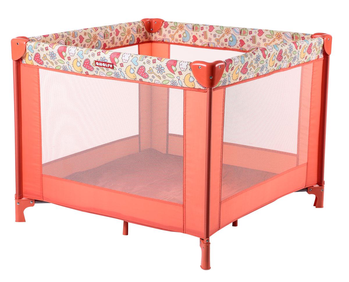 Happy Baby Игровой манеж HB-8090 Coral4650069783602квадратный манеж, размер 93*93, сумка с застежкой-молнией, сетчатые стенки для лучшей циркуляции воздуха Возраст: 0-4 года Максимальный вес ребенка: 1-15 кг