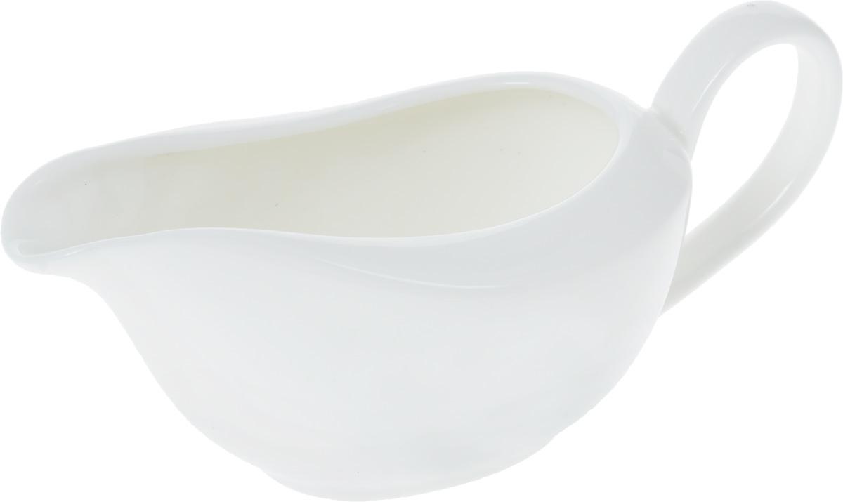 Соусник Wilmax, 100 млWL-996014 / AСоусник Wilmax изготовлен из высококачественного фарфора, покрытого глазурью. Изделие предназначено для сервировки соусов, снабжено удобным носиком и ручкой. Такой соусник пригодится в любом хозяйстве, он подойдет как для праздничного стола, так и для повседневного использования. Изделие функциональное, практичное и легкое в уходе.