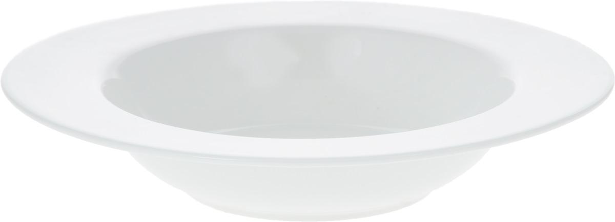 Тарелка глубокая Wilmax, диаметр 20 см. WL-991216 / AWL-991216 / AГлубокая тарелка Wilmax, выполненная из высококачественного фарфора, предназначена для подачи первых блюд. Она прекрасно впишется в интерьер вашей кухни и станет достойным дополнением к кухонному инвентарю. Тарелка Wilmax подчеркнет прекрасный вкус хозяйки и станет отличным подарком.