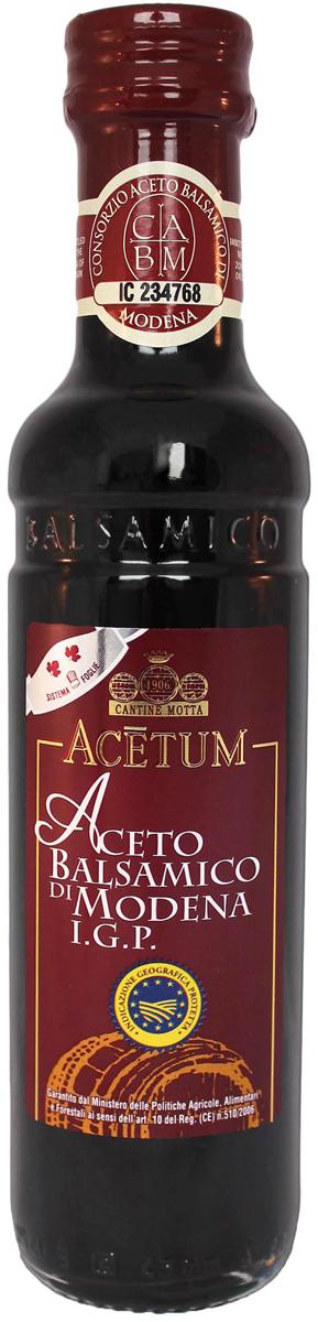 """Именно из итальянского города Модена, славящегося на весь мир производством лучшего бальзамического уксуса, происходит Бальзамический уксус РOCCA """"Aceto"""". Знак сертификации I.G.P. подтверждает, что каждая бутылка произведена только с использованием местного сырья в соответствии с установленным строгим регламентом. Обладает мягким с фруктовыми нотками вкусом и красивым красноватым цветом. Является прекрасным дополнением к вареным и свежим овощам, рыбным и мясным блюдам, а также подходит в качестве основы для салатных заправок и маринадов."""