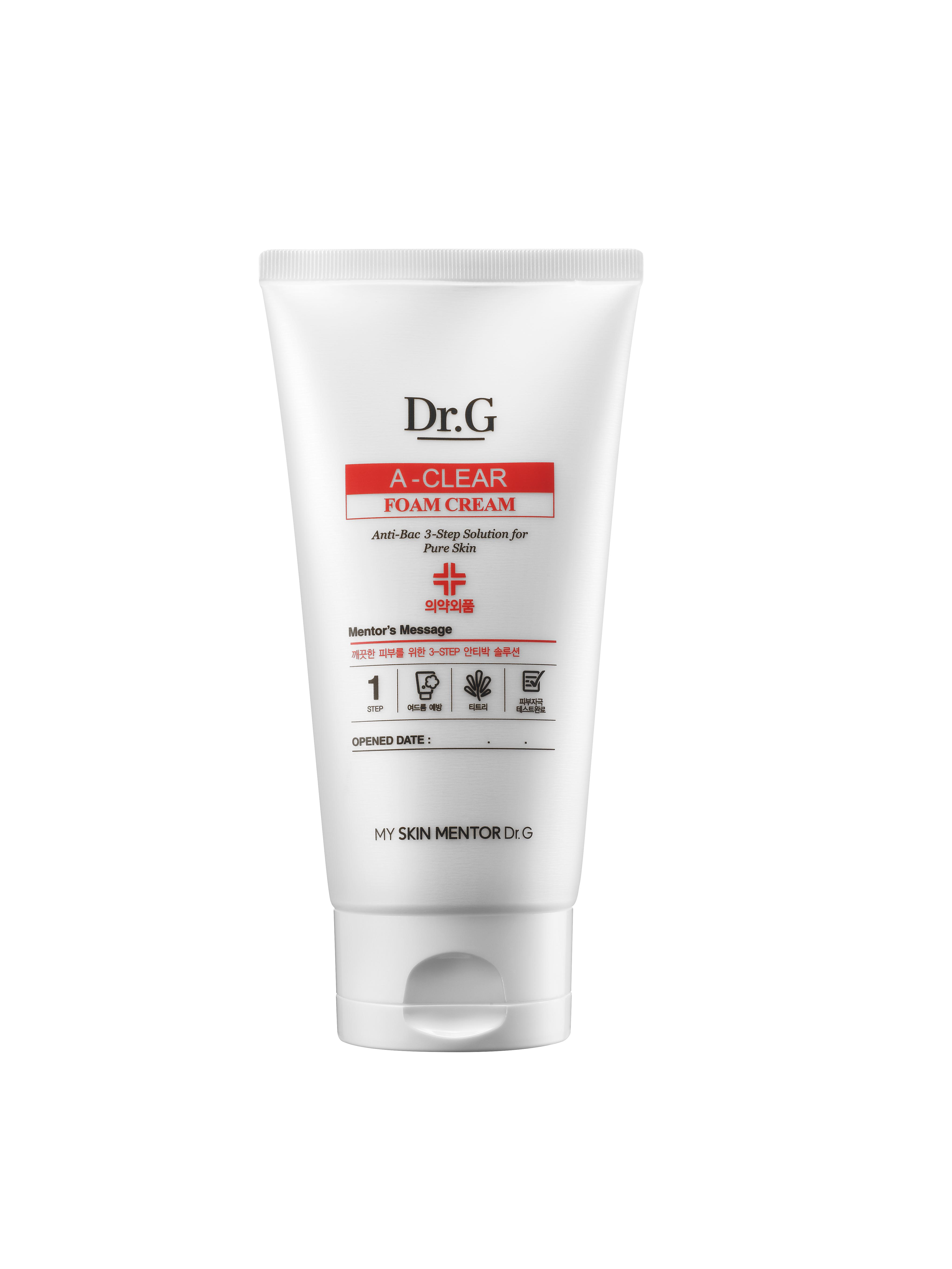 Dr. G Очищающая пенка для проблемной кожи A-Clear, 150 млDG131310Очищающая пенка не просто тщательно смывает загрязнения, а также поддерживает PH и целостность защитной мантии кожи, готовит ее к последующим этапам ухода. Очищение кожи лица пенкой A Clear – залог качественного последующего ухода. Кожа впитает в себя максимальное количество полезных микроэлементов и витаминов. Мягкая формула пенки эффективно и деликатно очищает чувствительную кожу лица. Салициловая кислота глубоко очищает поры, контролирует работу сальных желез. Кожа очищается от ороговевших клеток, становится гладкой и свежей. Салициловая кислота оказывает антисептическое антибактериальное воздействие, подавляет инфекцию, проникая глубоко в поры. Средство прекрасно подходит для проблемной кожи, снимает воспаления и покраснения, предупреждает и лечит акне.