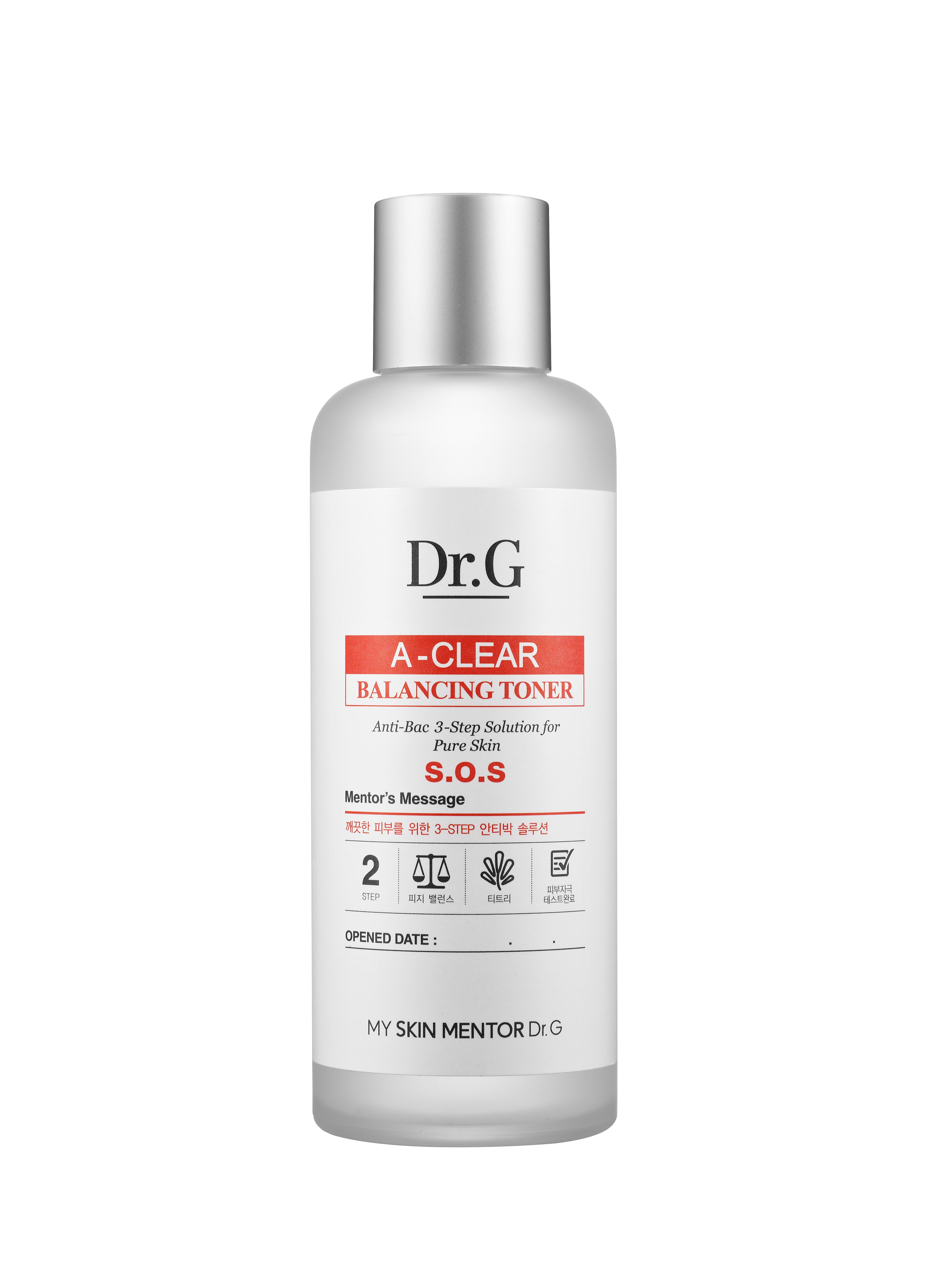 Dr. G Тоник балансирующий для проблемной кожи A-Clear, 170 млDG131327Тоник восстановливает гидро-липидный баланс, контролируя работу сальных желез. Хорошо очищает кожу от омертвевших клеток, избавляя от загрязнения, очищает поры.Салициловая кислота оказывает антибактериальное воздействие, подавляя инфекции. Идеально подходит для проблемной кожи, предотвращает появление прыщей.