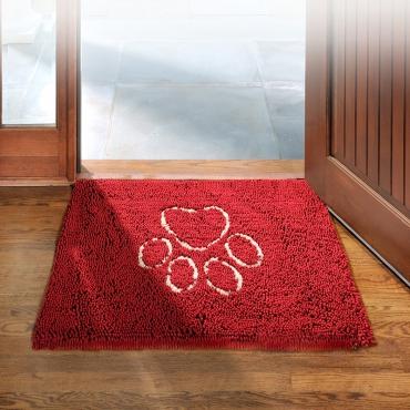 Коврик супервпитывающий Dog Gone Smart Dirty Dog Doormat, цвет: красный, 51 х 79 см4680265007592Gog Gone Smart Doormat Dog Doormat - это не просто коврик! Его можно использовать в машине, клетке, в качестве подстилки под миски с едой и водой, или просто в качестве места для отдыха вашего питомца! Запатентованные технологии позволяют защитить пол, мебель и сиденья автомобиля от нежелательной шерсти, грязи и слюней! Беспорядок останется на коврике! Супер абсорбирующий материал! Передовые технологии, задействованные в производстве микрофибры, позволяют впитывать воду и грязь моментально! Миллионы ворсинок микрофибры создают эффект огромной супер-губки! Что это дает: Впитывает объем воды и грязи до 7 раз больше своего веса; Оставляет полы чистыми и сухими; Сохнет в 5 раз быстрее обыкновенных ковриков; После высыхания - легко вытряхивается; Очень мягкий; Износостойкий; Нескользящая оборотная сторона; Прост в уходе; Использовать можно в любом месте.