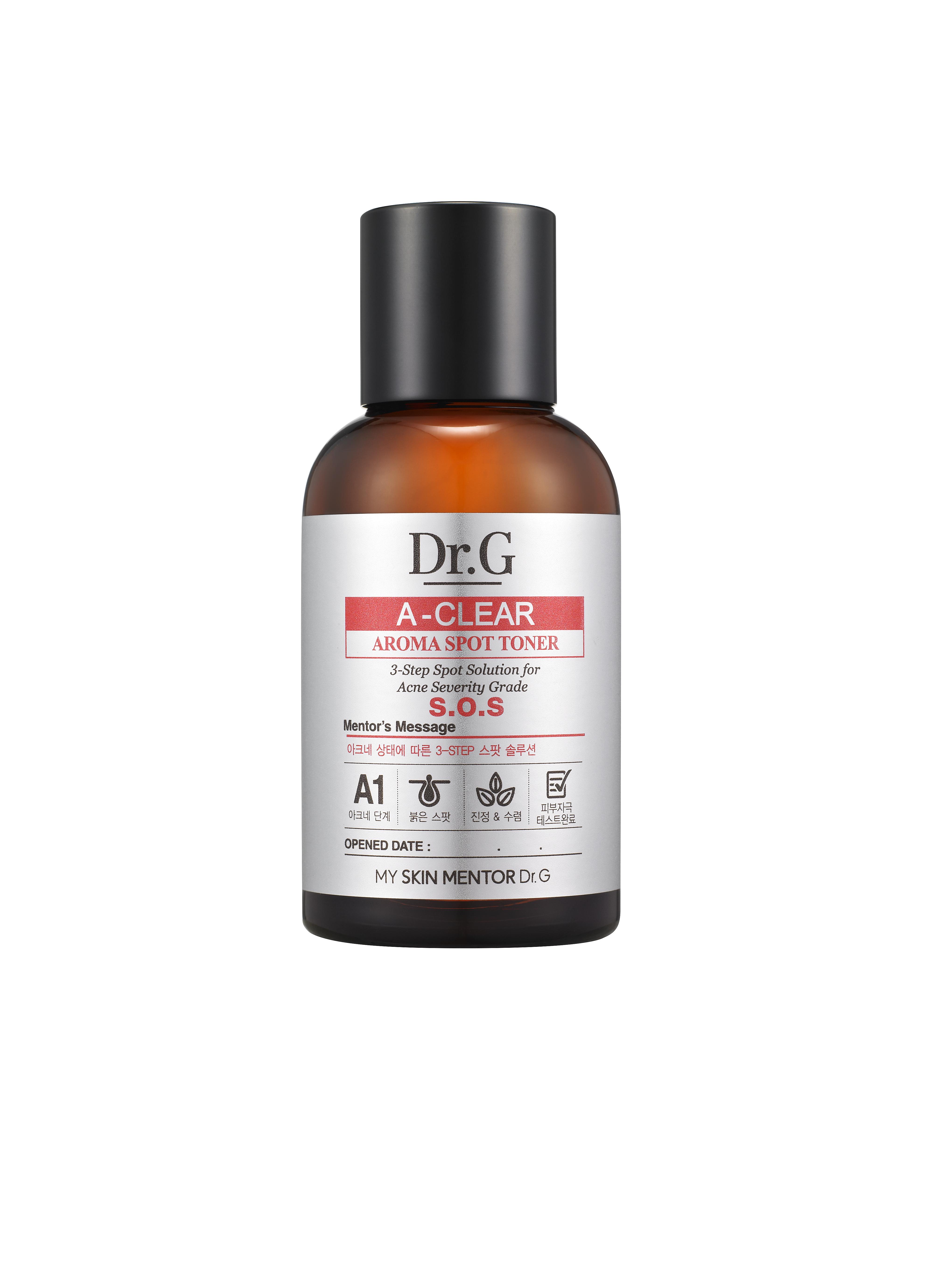 Dr. G Тоник с арома-маслами для проблемной кожи A-Clear, 50 млDG131419Тоник для проблемной кожи содержит лечебный комплекс ингредиентов, направленных на борьбу с акне, гнойничковыми образованиями и раздражениями. Экстракт центеллы азиатской, экстракт чайного дерева, экстракт меда, ледниковая вода не только лечат акне, но и значительно сокращают видимые следы пост-акне. Масло чайного дерева в составе лосьона - очень сильный антисептик, также обладает явно выраженным бактерицидным, противовирусным, противогрибковым и иммуностимулирующим эффектом. Салициловая кислота в составе средства имеет свойство растворять кератин, роговые наслоения, отшелушивает ороговевшие клетки эпидермиса, проникает в самые глубины поры, подавляя инфекцию. Морская вода в составе средства выводит токсины, контролирует работу сальных желез, насыщает кожу полезными микро и макро-элементами, осветляет пигментные пятна. Кожа становится подтянутой и упругой.
