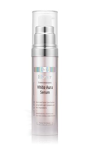 Dr. G Сыворотка осветляющая White Aura, 30 млDG132287Средство эффективно отбеливает пигментные пятна и точки различного происхождения, контролирует выработку меланина, питает и надолго увлажняет. Обеспечивает мгновенный эффект осветления и сияния кожи изнутри. Активные фитосоединения в составе экстракта эдельвейса – бисаболан, ситостерол, дубильные вещества, хлорогеновая кислота, лютеолин обладают высокой антиоксидантной активностью, вдвое больше, чем у всех известного витамина С. Помогает выводить токсины, защищает, регенерирует, участвует в образовании коллагена. Альфа-бисабол снимает раздражение и успокаивает кожу, обладает противовоспалительным действием, увеличивает проникающую способность, придает гладкость и эластичность, обладает противогрибковым, противомикробным и антибактериальным эффектом, укрепляет иммунитет кожи. Сыворотка имеет легкую текстуру, отлично впитывается, подходит для всех типов кожи.