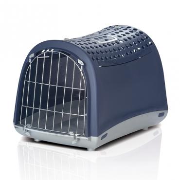 Переноска для животных IMAC Linus Cabrio, цвет: синий, серый, 50 х 32 х 34,5 см8021799404987Переноска для животных IMAC Linus Cabrio - это хит продаж среди переносок. Элегантный итальянский дизайн, а также уникальная особенность - открывающаяся крыша в виде распахивающихся дверец с замками, делает переноску просто незаменимой для кошек и собак, которых порой очень сложно заставить в нее залезть через обычную боковую дверцу. Чтобы питомец чувствовал себя спокойно и защищенно, боковые стенки не имеют отверстий, а на крыше есть перфорация. Данная переноска рекомендуется для животных весом до 6 кг (гарантия производителя – 5 кг).