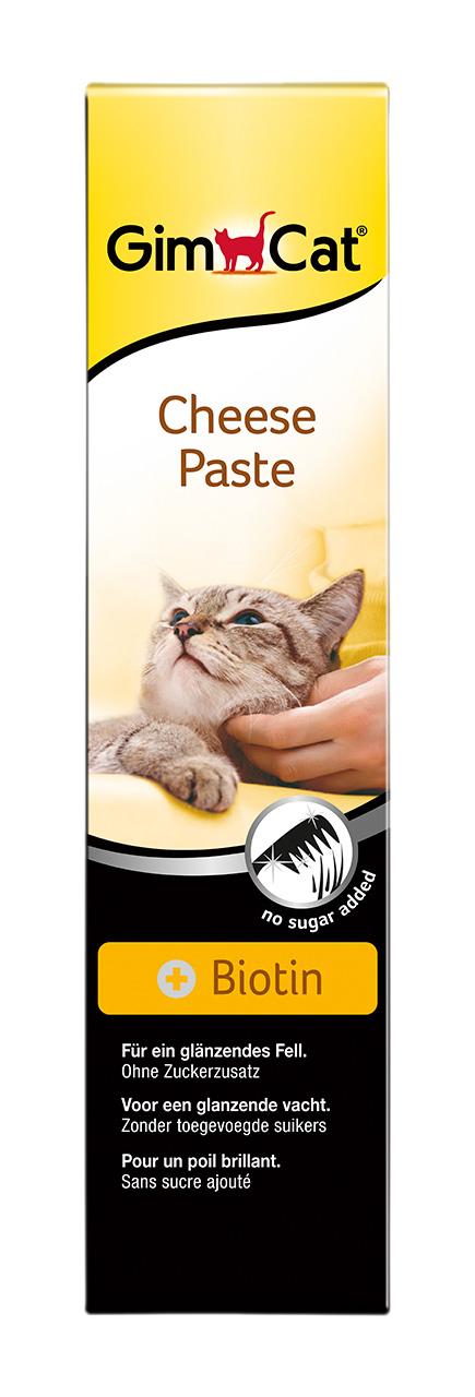 Лакомство для взрослых кошек Gimcat, сырная паста с биотином, 200 г401874СЫРНАЯ ПАСТА С БИОТИНОМ Благодаря удачному сочетанию ароматного сыра и соответствующего физи-ологическим нормам ценного компонента, биотина, сырная паста является ежедневной добавкой к питанию и прекрасным лакомством для Вашей кошки. Сырная паста благодаря своему натуральному запаху найдет отклик в сердце любой кошечки. Биотин, входящий в ее состав, придает шерсти Вашей кошки блеск, яркость и эластичность.