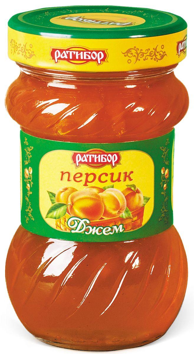 Ратибор джем Персик, 360 г1061Сладость персика, сочность его мякоти, бархатистость тонкой кожицы, ароматный сок бережно хранятся в золотисто-сладком джеме, изготовленном для вас компанией Ратибор. Кушайте на здоровье!