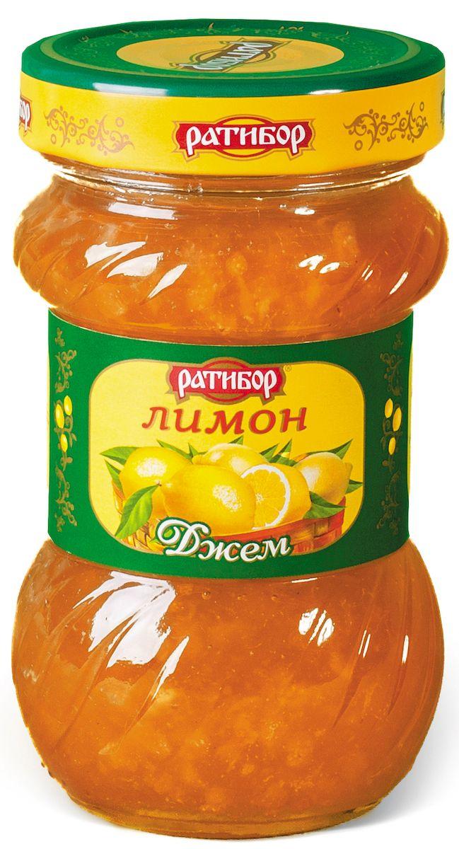 Ратибор джем Лимон, 360 г1497Густые и вкусные джемы Ратибор хороши на завтрак с хлебом, тостами или печеньем.