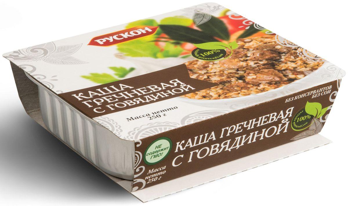 Рускон каша гречневая с говядиной, 250 г