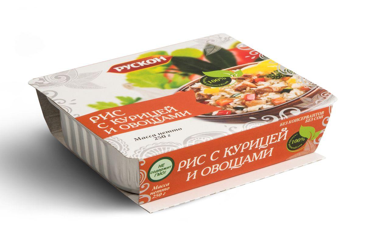 Рускон рис с курицей и овощами, 250 г