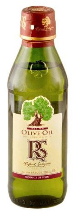 Rafael Salgado масло оливковое, 250 мл5637Оливковое масло Rafael Salgado - это смесь масла Extra Virgin и масла, полученного путем рафинации оливкового масла первого отжима. Благодаря добавлению масла Extra Virgin, рафинированное оливковое масло приобретает мягкий вкус и тонкий аромат. Оливковое масло устойчиво к термическому окислению и при многократном использовании не образует канцерогенные вещества, поэтому идеально подходит для жарки и фритюра. Основанная 140 лет назад компания Rafael Salgado является одним из крупнейших производителей оливкового масла в Испании и поставляет сегодня свою продукцию более чем в 90 стран мира.
