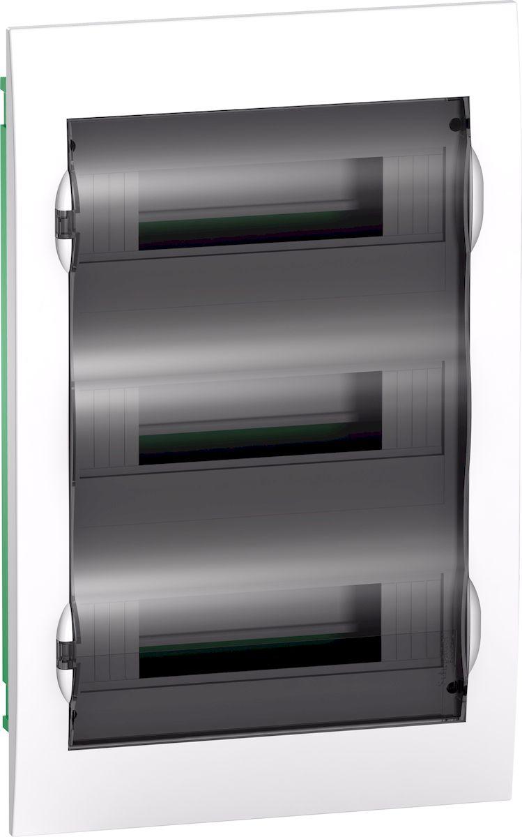 Корпус (щиток) СУ Schneider Electric Easy 9 с дверцей, 3ряд/36мод, IP40,IK07, 2 клеммы. EZ9E312S2FRUEZ9E312S2FRUКорпус (щиток) СУ с прозрачной дверцей 3ряд/36мод, IP40,IK07, 2 клеммы, Schneider Electric Easy 9 EZ9E312S2FRU