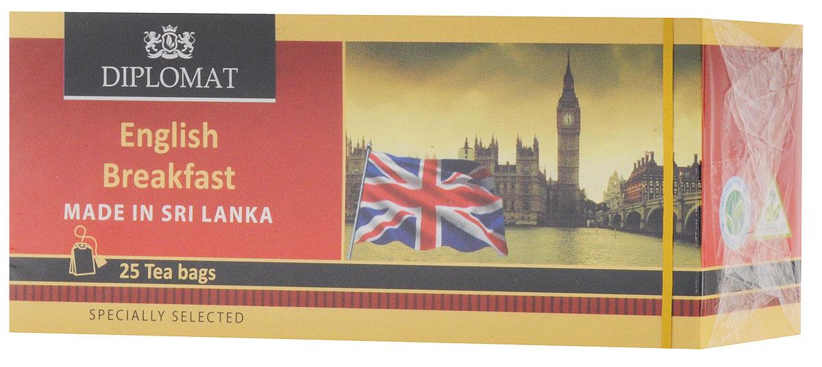 Diplomat Ceylon English Breakfast чай черный в пакетиках, 25 шт