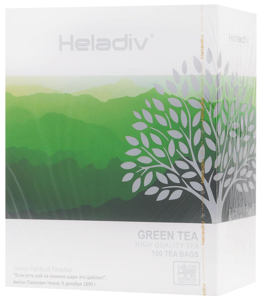 Heladiv Green Tea чай зеленый в пакетиках, 100 шт4791007008378Превосходный зеленый чай Heladiv обладает приятным насыщенным вкусом, изысканным ароматом и настоем золотистого цвета.