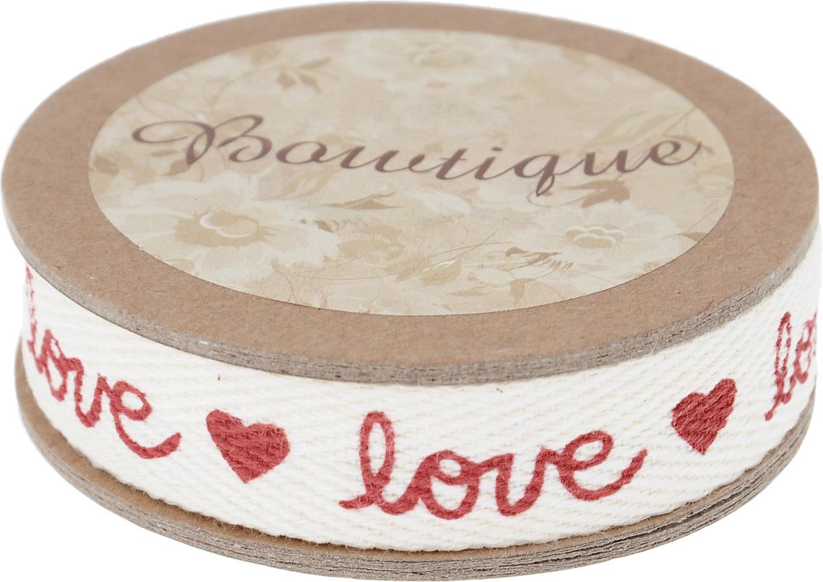 Лента хлопковая Hemline Love & Hearts, 1,5 х 500 смVR15.074Лента на картонной катушке Hemline Love & Hearts выполнена из хлопка. Такая лента идеально подойдет для оформления различных творческих работ, может использоваться для скрапбукинга, создания аппликаций, декора коробок и открыток, часто ее применяют при пошиве одежды, сумок, аксессуаров. Лента наивысшего качества практична в использовании. Она станет незаменимым элементом в создании вашего рукотворного шедевра.