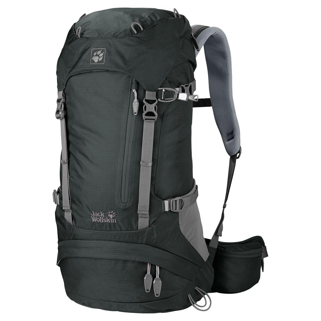 Рюкзак туристический Jack Wolfskin Acs Hike 26 Pack, цвет: темно-серый, 26 л. 2004571-6037