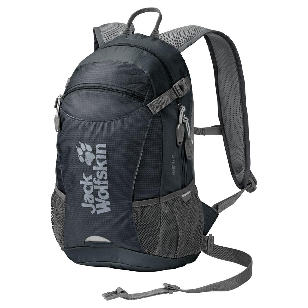 Рюкзак спортивный Jack Wolfskin Velocity 12, цвет: темно-серый, 12 л. 2004961-62302004961-6230Рюкзак для велоспорта и бега. Активность в велосипедной прогулке и все самое важное с собой: VELOCITY 12 — наш маленький спортивный рюкзак с поддерживающей системой ACS TIGHT (ЭйСиЭс ТАЙТ). Он располагается близко к телу, поэтому идеально подходит для спортивных походов. Центральный вентиляционный канал, воздухопроницаемая подушка для спины и дышащий сетчатый чехол обеспечивают оптимальную вентиляцию спины. Велосипедное оснащение включает также практичное крепление для шлема и светодиодного фонарика, расположенное спереди.