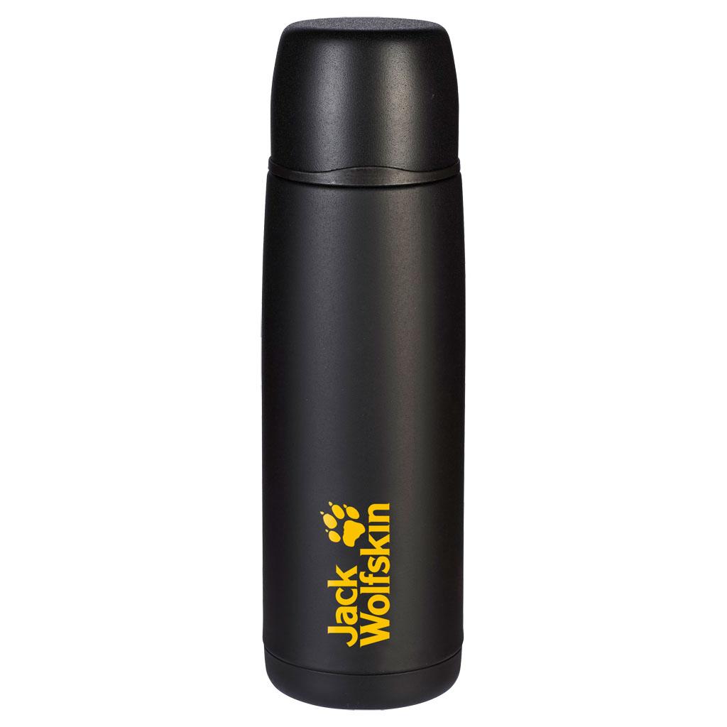 Термос Jack Wolfskin Thermo Bottle Grip 0,9, цвет: черный, 0,9 л. 8000331-60008000331-6000Большой термос с шероховатым внешним покрытием. Долго сохраняет напитки горячими даже в холодную погоду: наш большой прочный THERMO BOTTLE GRIP 0,9 с шероховатым покрытием. Поэтому даже в перчатках обеспечен надежный захват для питья. Крышка термоса может использоваться как чашка.