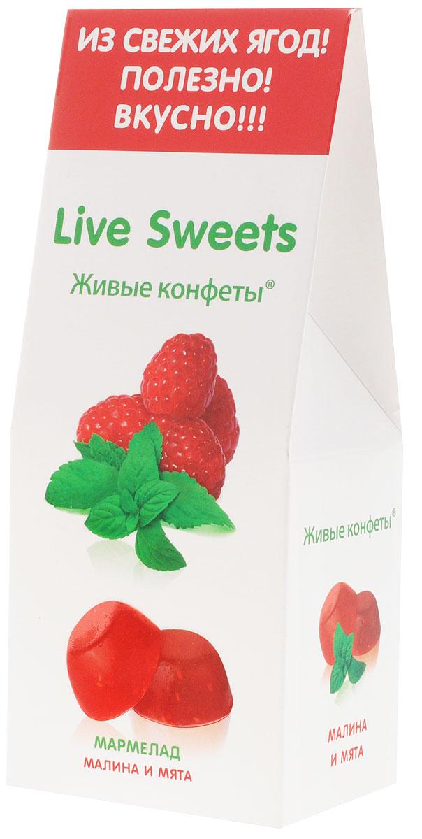 Live Sweets Малина и мята мармелад желейный, 170 гМН56.170Желейный мармелад Live Sweets – полезная альтернатива обычным сладостям. Он произведен по специальной технологии, позволяющей сохранить все полезные свойства используемых ингредиентов. Состоит исключительно из натуральных ингредиентов, богатых витаминами и растительной клетчаткой.