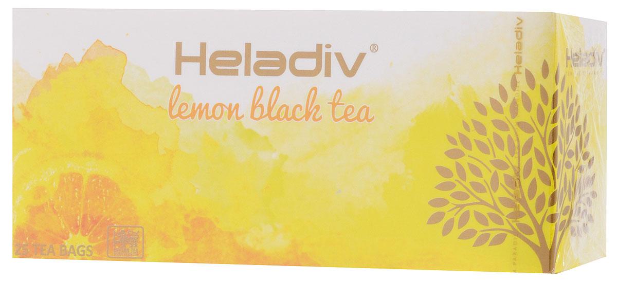 Heladiv Lemon чай черный в пакетиках с ароматом лимона, 25 шт4791007008354Сочетание элитного цейлонского чая с ароматом лимона в Heladiv Lemon подарит вам незабываемое ощущение легкости. Пакетированный черный чай Heladiv обладает приятным вкусом и ярким настоем.