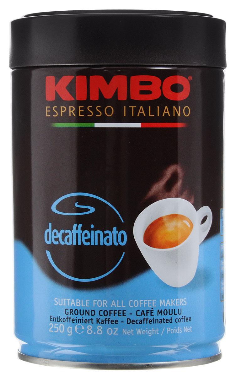 Kimbo Decaffinato декофеинизированный молотый кофе, 250 г8002200301415Kimbo Decaffinato - великолепный итальянский кофе с низким содержанием кофеина, который сохранил насыщенный аромат и богатый вкус классического эспрессо.