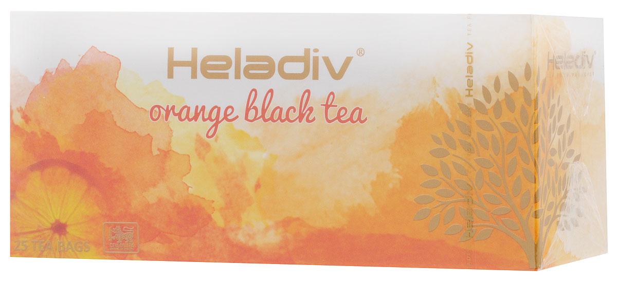 Heladiv Orange чай черный в пакетиках с ароматом апельсина, 25 шт4791007008569Сочетание элитного цейлонского чая с насыщенным ароматом апельсина в Heladiv Orange подарит вам незабываемое ощущение легкости. Пакетированный черный чай Heladiv обладает приятным вкусом, насыщенным ароматом апельсина и ярким настоем.