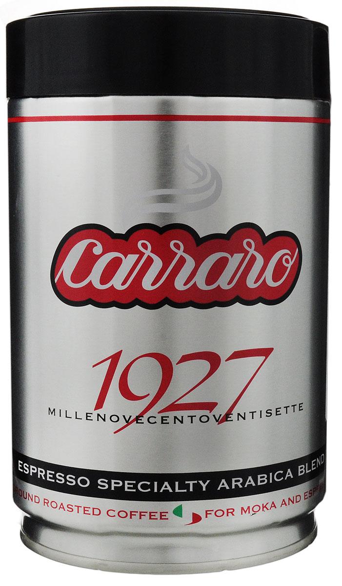 Carraro 1927 Arabica 100% кофе молотый, 250 г8000604900074Carraro 1927 Arabica 100% - ароматный вкус сладости для изысканных гурманов. Эта смесь арабики, которая представляет собой максимум с точки зрения аромата и тонкости вкуса - визитная карточка фабрики. Напиток - плод постоянных исследований и очень тщательной обработки, он создан для самых изысканных ценителей!