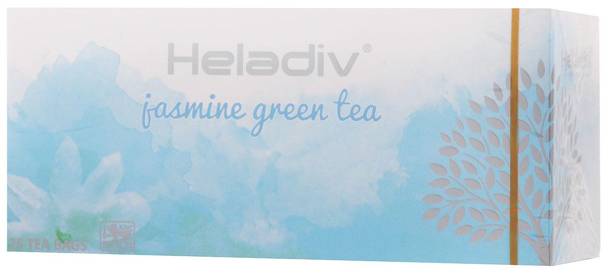 Heladiv Jasmine Green Tea чай зеленый в пакетиках с ароматом жасмина, 25 шт free shipping 2015 yr new tea premium jasmine pearl tea jasmine longzhu flower tea green tea 250g bag vacuum packaging