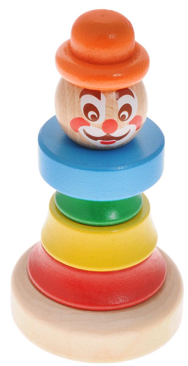 Бомик Пирамидка Клоун цвет колпака оранжевый