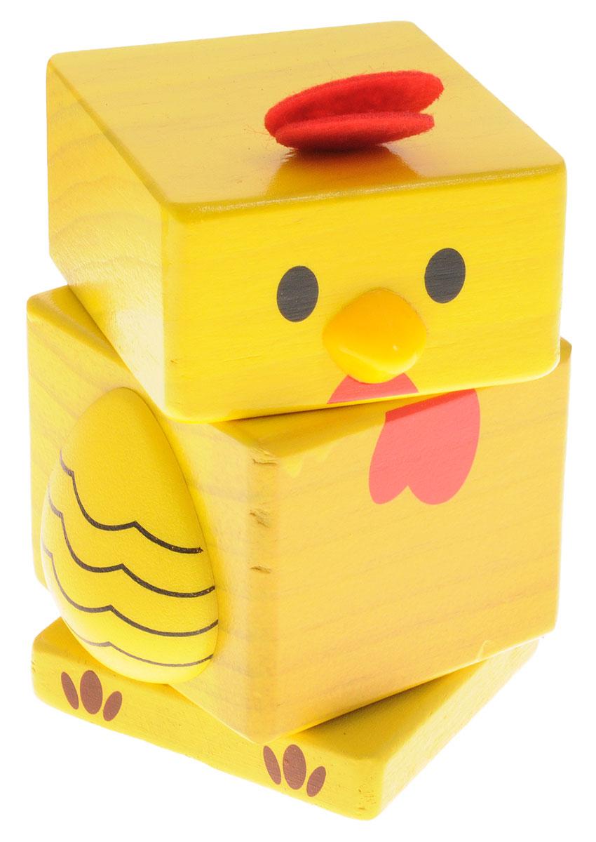 Бомик Пирамидка Цыпленок808Деревянная пирамидка Бомик Цыпленок может стать первой игрушкой, с которой ваш малыш начнет учиться и играть одновременно. Яркая игрушка изготовлена из экологически чистого дерева, не имеет острых сторон. Все детали яркие, окрашены абсолютно безопасными водорастворимыми красителями в ярко-желтый цвет. Составление пирамидки способствует развитию мелкой моторики рук, координации, логического и пространственного мышления, сенсорного восприятия, тренирует память и внимание.