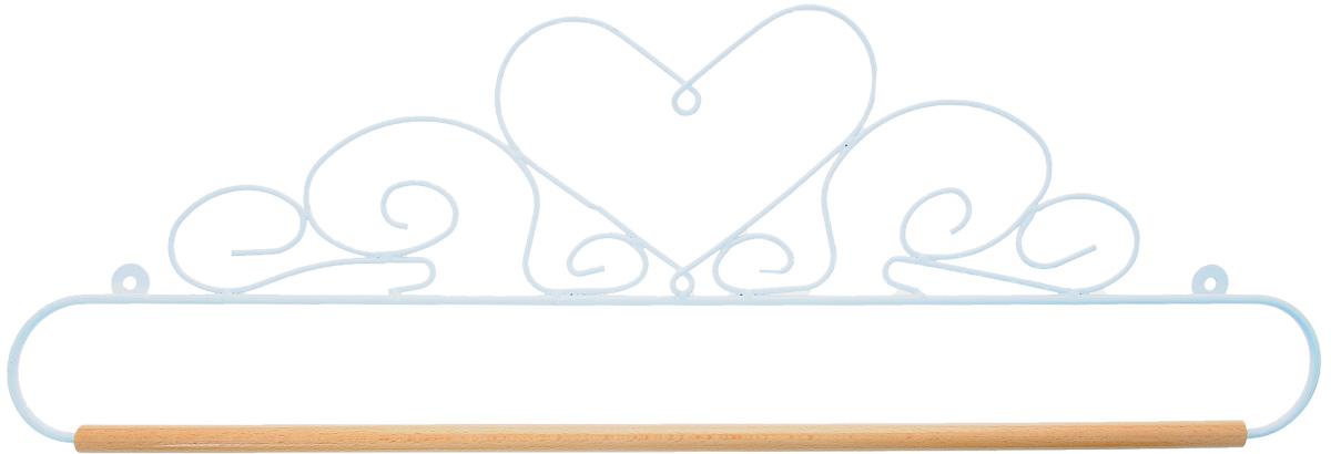 Хангер фигурный Hemline, для панно из квилтинга и вышивки, 51 см. ERQH35.20WHTERQH35.20WHTФигурный хангер Hemline предназначен для работы с панно из квилтинга и вышивки. Изделие выполнено из прочного металла и натурального дерева. Чтобы открыть хангер, вытяните конец проволоки из деревянного дюбеля, закрепите панно, вставьте конец проволоки обратно в деревянный дюбель. Закрепите хангер на стене с помощью винтов (в комплект не входят).