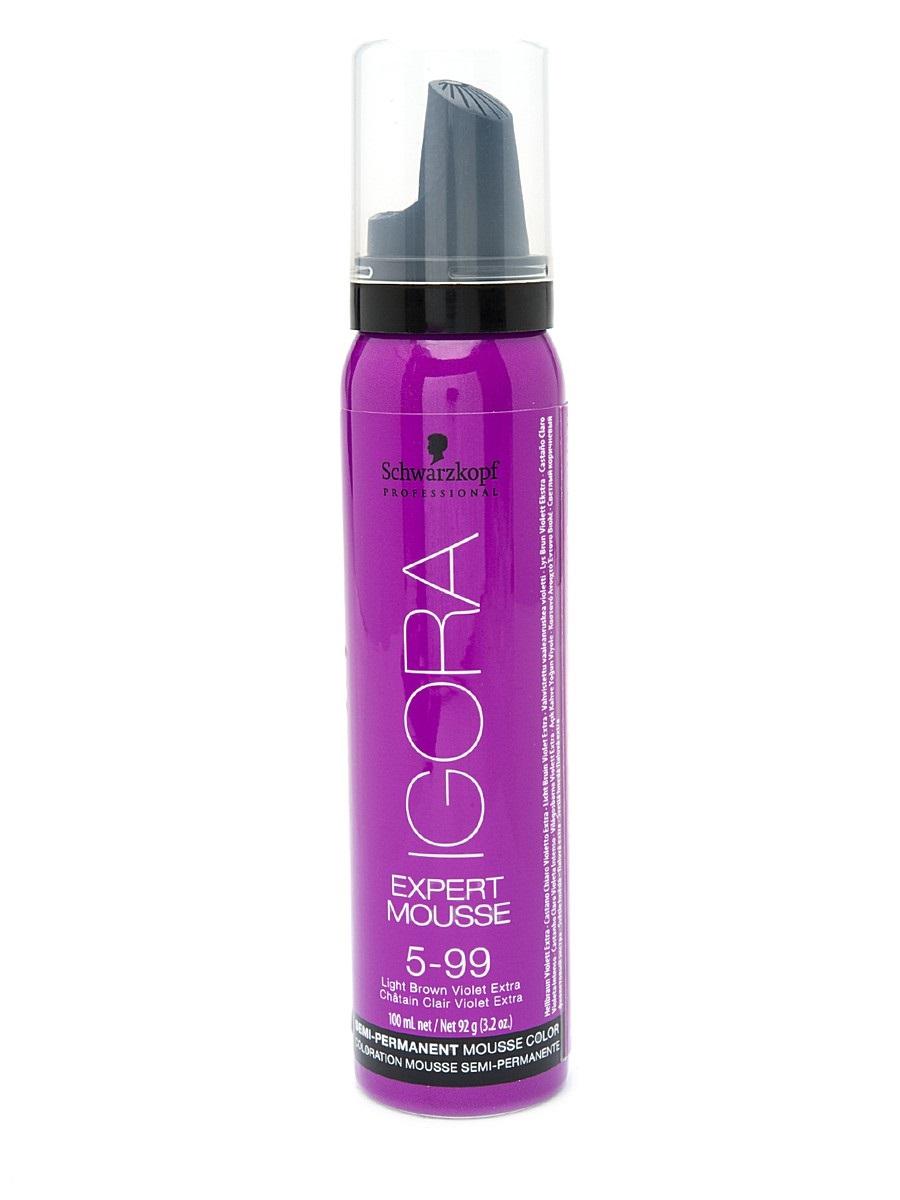 Igora Expert Mousse - Тонирующий мусс 5-99 для волос Светлый коричневый фиолетовый экстра 100 мл1845704/257960Замечательное средство подарит вашим локонам изумительный, глубокий цвет. Продукт позаботится о здоровье волос, укрепив их, сделав крепкими и эластичными. Мусс не проникает в структуру, а лишь обволакивает их и постепенно смывается. Роскошные, ухоженные, с великолепным насыщенным цветом. Крепкие, послушные и шелковистые. Именно такими ваши волосы сделает тонирующий мусс от Schwarzkopf. Замечательное средство подарит вашим локонам изумительный, глубокий цвет. Продукт позаботится о здоровье волос, укрепив их, сделав крепкими и эластичными. Представленный мусс окутает ваши локоны бесподобным цветом. Самое главное, что для этого вам нужно лишь нанести средство на волосы и подождать пять минут. Если желаете получить более насыщенный оттенок – двадцать минут. В отличие от краски для волос, мусс не проникает в структуру, а лишь обволакивает их и постепенно смывается Приобретите тонирующий мусс от Schwarzkopf, и он в считанные мгновения подарит вашим волосам роскошный цвет, сделав их еще...