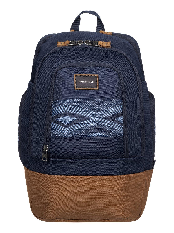 Рюкзак городской муж Quiksilver 1969 special, цвет: синий, коричневый, 28 лEQYBP03270-BME6