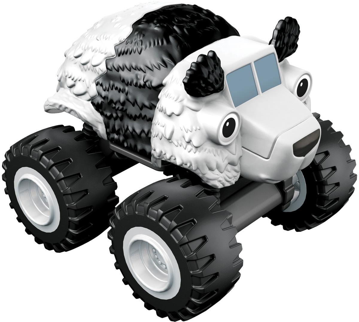 Blaze Машинка Медвежонок пандаCGF20_DGK47Машинка Blaze Медвежонок панда выполнена из металла и пластика в виде героини популярного мультсериала Вспыш и чудо-машинки. Медвежонок панда - удивительный грузовичок в виде медвежонка панды, с забавными ушками и большими глазками. Вспыш и чудо-машинки - история про Эй-Джея, восьмилетнего любителя техники, который водит пикап по имени Блейз (Вспыш), побеждающий на всех гонках в Аксель-Сити. Они вместе отправляются в приключения, требующие знания физики и математики. Их ждет множество трудностей от главного соперника Блейза (Вспыша) - Крашера (Крушила), грузовика, который готов пойти на всё, чтобы быть на финише первым.