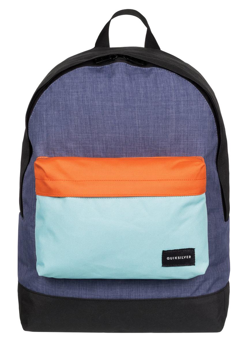 Рюкзак городской муж Quiksilver Everyday edit m bkpk bfk0, цвет: синий, оранжевый, 16 лEQYBP03274-BFK0